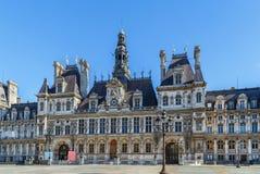 Здание муниципалитет, Париж стоковые изображения rf