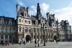 Здание муниципалитет Париж стоковое изображение