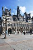здание муниципалитет Париж стоковая фотография