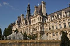 Здание муниципалитет (Париж) Стоковое Изображение RF