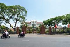 Здание муниципалитет провинции Бен Tre стоковое изображение