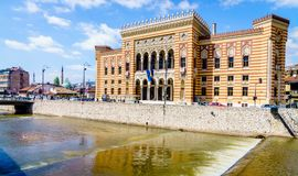 Здание муниципалитет Сараева Стоковые Изображения