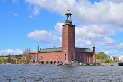 Здание муниципалитет Стокгольма Стоковое фото RF