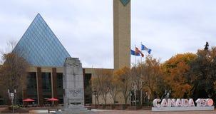 Здание муниципалитет Эдмонтона Канады и Канады 150 подписывает 4K