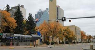 Здание муниципалитет Эдмонтона Канады строя 4K