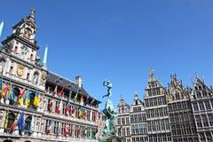Здание муниципалитет Antwerp Стоковое фото RF