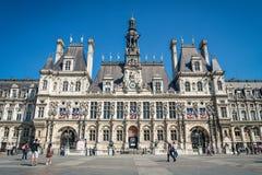 Здание муниципалитет de Ville гостиницы в Париже, Франции стоковое изображение rf