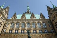 здание муниципалитет hamburg Стоковое Изображение