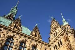 здание муниципалитет hamburg стоковое фото