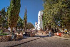 Здание муниципалитет Humahuaca Cabildo - Humahuaca, Jujuy, Аргентина стоковые изображения rf