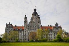здание муниципалитет leipzig новый Стоковое Изображение