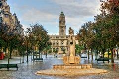 Здание муниципалитет Oporto Стоковое фото RF