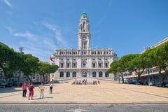 здание муниципалитет porto Португалия Стоковое Изображение