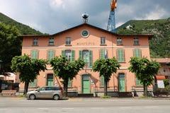 Здание муниципалитет Predore стоковые фото