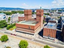 Здание муниципалитет Radhus, Осло Стоковое Изображение RF