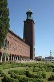 здание муниципалитет stockholm Швеция Стоковые Изображения