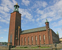 здание муниципалитет stockholm Стоковая Фотография RF