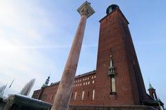 здание муниципалитет stockholm Стоковое Фото