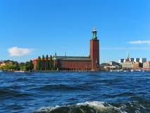 здание муниципалитет stockholm стоковые фото