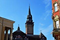 Здание муниципалитет Subotica в Сербии стоковые изображения