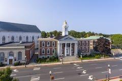 Здание муниципалитет Woburn, Массачусетс, США стоковые изображения
