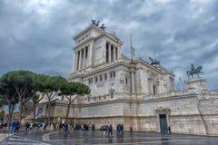 Здание национального монумента в Риме Стоковое фото RF