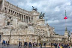 Здание национального монумента в Риме Стоковая Фотография