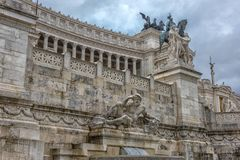 Здание национального монумента в Риме Стоковые Фото