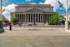 Здание национальных архивов Соединенных Штатов стоковое изображение