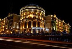 Здание ночи Стоковое фото RF