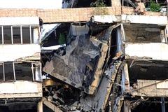 здание обрушилось Стоковое Изображение