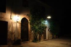 здание осветило ночу Стоковое Изображение