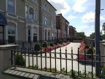 Здание от сада Великобритании Лондона стоковое фото