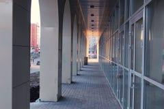 Здание офиса стеклянное Стоковая Фотография RF