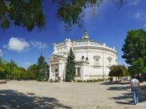 Здание панорамы героикоромантической обороны Севастополя в 1854-1855 на историческом бульваре лето дня солнечное Стоковые Изображения RF