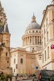 Здание пантеона в Париже стоковое изображение rf