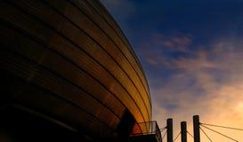 Здание площади экспо в Ганновере стоковое изображение rf