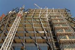 Здание под конструкцией, Лондоном, Англией стоковое фото rf