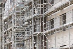 Здание под конструкцией Структура фасада кирпича Architectur Стоковое Изображение