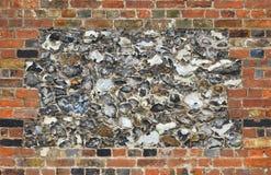 Здание предпосылки кирпичей кирпичной кладки каменной стены огнива стоковое изображение