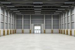 Здание пустого склада внутреннее или промышленное перевод 3d бесплатная иллюстрация