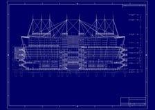здание светокопии Стоковые Фотографии RF