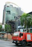 здание сгорело centralworld стоковые фотографии rf