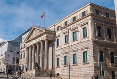 Здание собрания в Мадриде вызвало Congreso de los disputados - здание парламента стоковые изображения rf