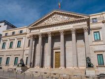 Здание собрания в Мадриде вызвало Congreso de los disputados - здание парламента стоковые фотографии rf