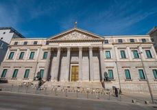 Здание собрания в Мадриде вызвало Congreso de los disputados - здание парламента стоковая фотография rf