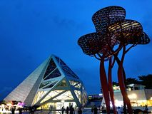 Здание современного искусства стоковое фото