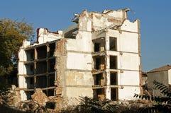 здание сокрушило старую стоковое изображение rf