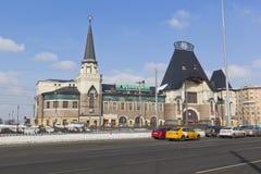 Здание станции Yaroslavl в Москве Стоковое Фото