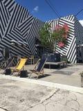 Здание стиля стиля Арт Деко в Майами в Wynwood Стоковое Изображение